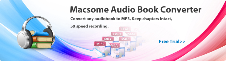 Convert AA audio book to MP3, M4B, AAC