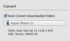 One button to download and convert