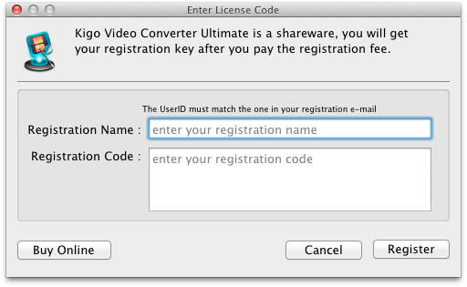 Register Video Converter Ultimate
